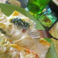 Cannelloni con ricotta rucola e pistacchi